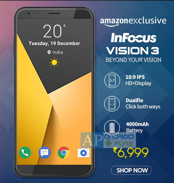 Infocus Vision 3 price specifications 1 - Exclusive: Infocus Vision 3 with Dual camera, Full Screen display to be priced at Rs. 6,999