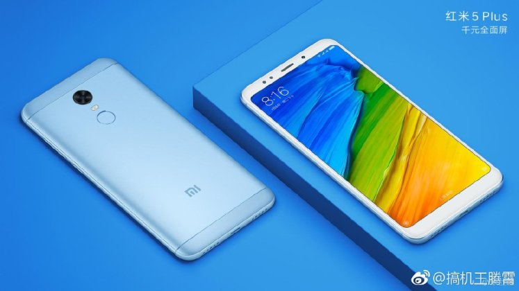 Xiaomi Redmi 5 Plus f - Xiaomi Redmi 5 / Redmi 5 Plus official press renders surface ahead of official launch