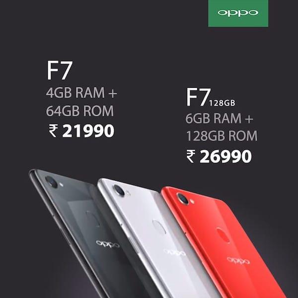 Oppo f7 price