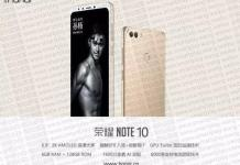 Honor Note 10 leaked technical specifications
