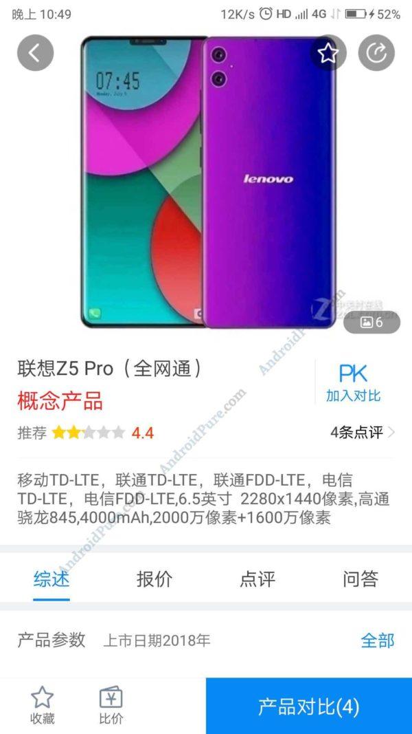 "Lenovo Z5 Pro e1537417922854 Lenovo Z5 Pro with 6.5"" Display, Snapdragon 845, Dual camera surface 2"