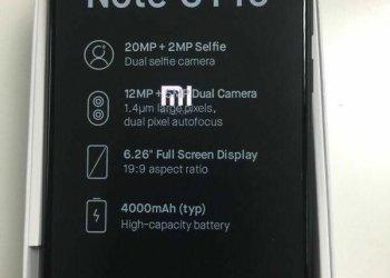Redmi Note 6 Pro leak