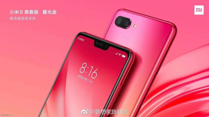 Xiaomi Mi 8 Youth Edition press renders