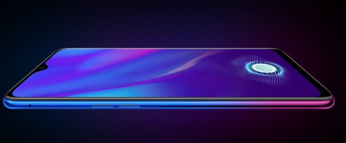 Oppo K1 Render Official Oppo K1 Render confirms In-Display Fingerprint and waterdrop display 1