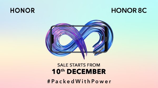 Honor 8C India sale date