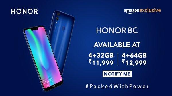 Honor 8c india price