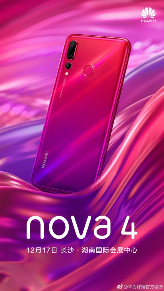 Huawei Nova 4 official render