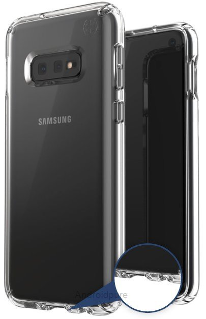 Galaxy s10 leaked case render headphone jack