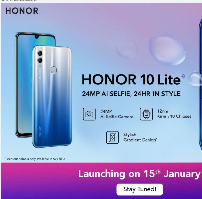 Honor 10 Lite launch date