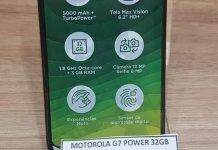 Moto G7 Power leaked real life photo