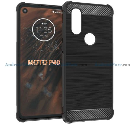 Moto P40 r Moto P40 Case Renders confirm the punch hole camera and earlier leaks 2
