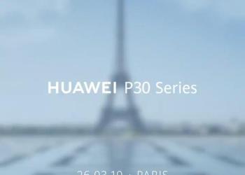 Huawei P30 launch date