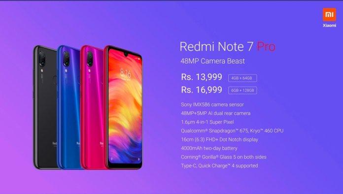 Redmi Note 7 Pro Price in India