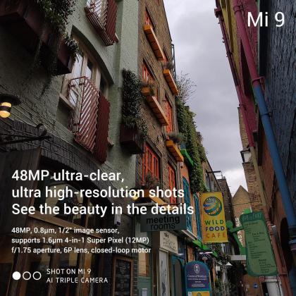 Xiaomi Mi 9 tech specs 48MP camera