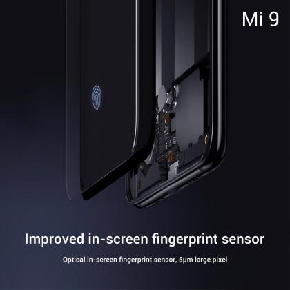 Xiaomi Mi 9 tech specs In-screen fingerprint sensor