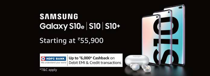 Galaxy S10 cashback offers