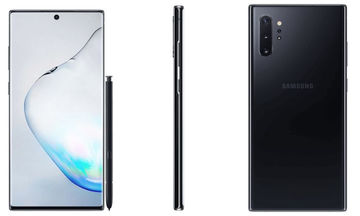 Samsung Galaxy Note10 Plus leaked press renders