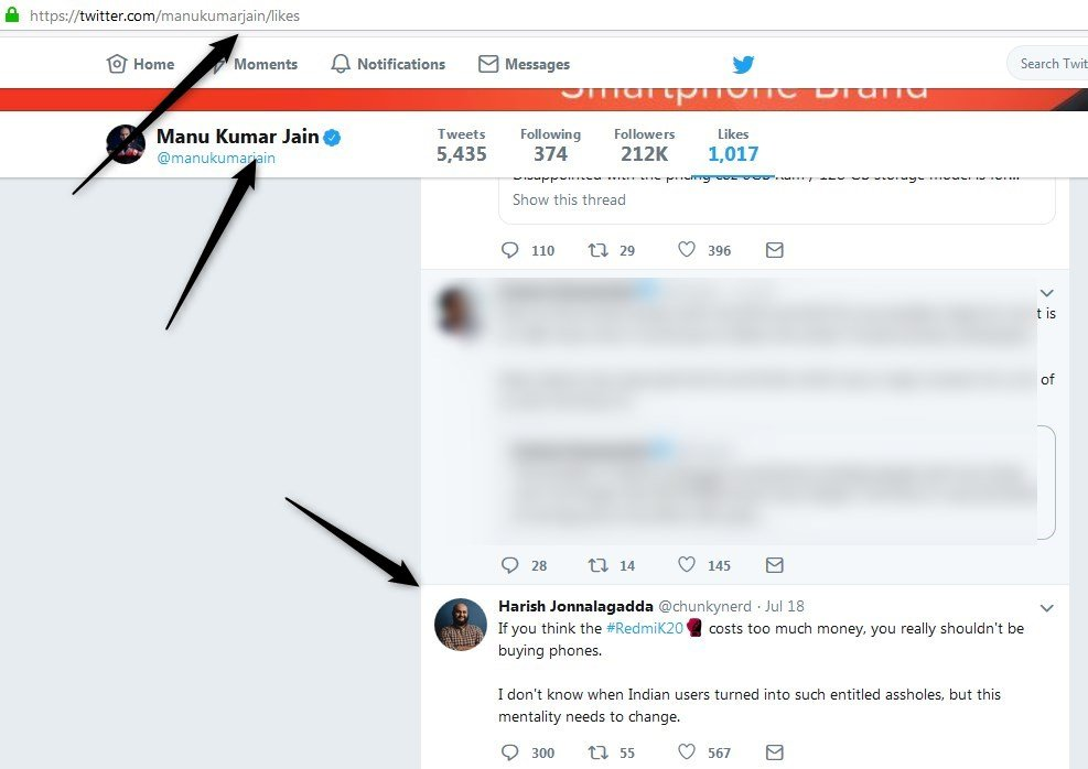 Xiaomi India chief Manu Jain likes Tweet which insulted Indian users