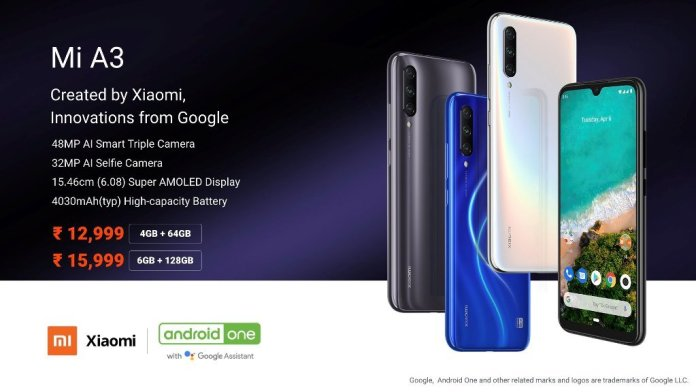 Mi A3 India Price Xiaomi Mi A3 with AMOLED display, triple camera, in-display fingerprint launched in India 1 News | Phones