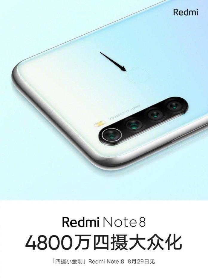 Redmi Note 8 fingerprint scanner