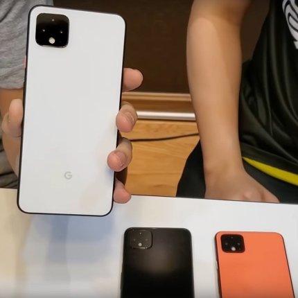 Google Pixel 4 leaked videos - White