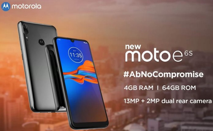 Moto E6S India launch date