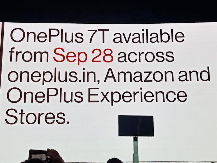 OnePlus 7T availability launch event photo