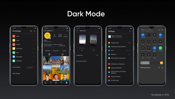 Realme XT ColorOS Dark Mode