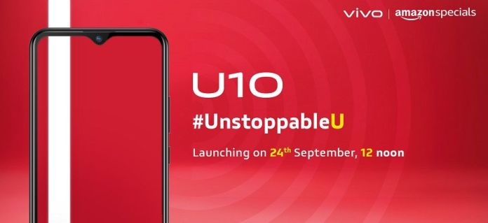 Vivo U10 launch india Vivo U10 with water-drop notch, fast charging to launch on Sept 24 [Updated] 1