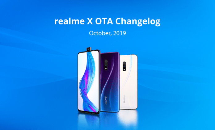 Realme X October Update