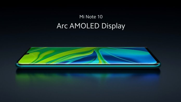 Xiaomi Mi Note 10 display