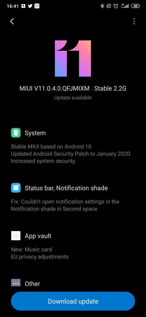 Android 10 Update for Mi 9T Global variant