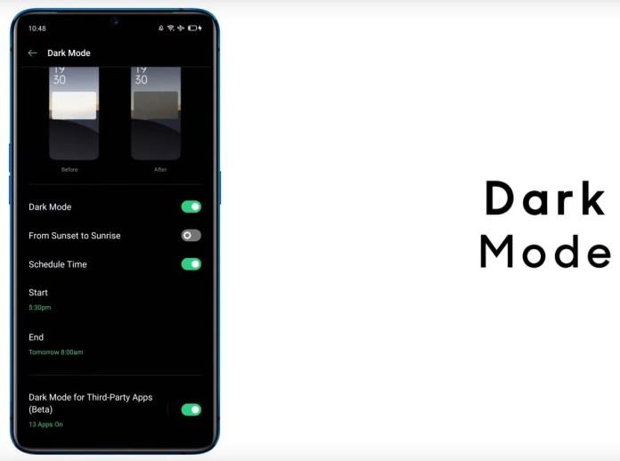 Realme Ui features Dark Mode