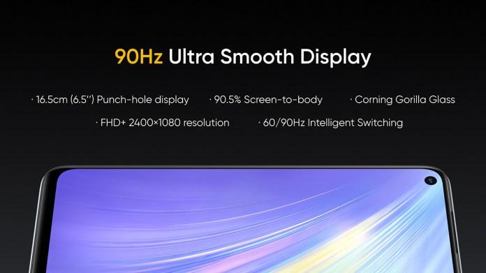 Realme 6 display