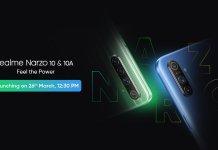 Realme Narzo 10 And Narzo 10a Launch Date