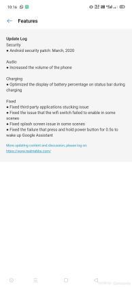Realme X2 update
