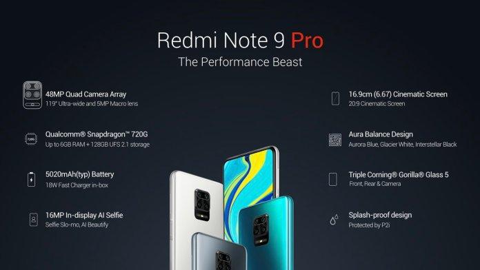 Redmi Note 9 Pro specs tech