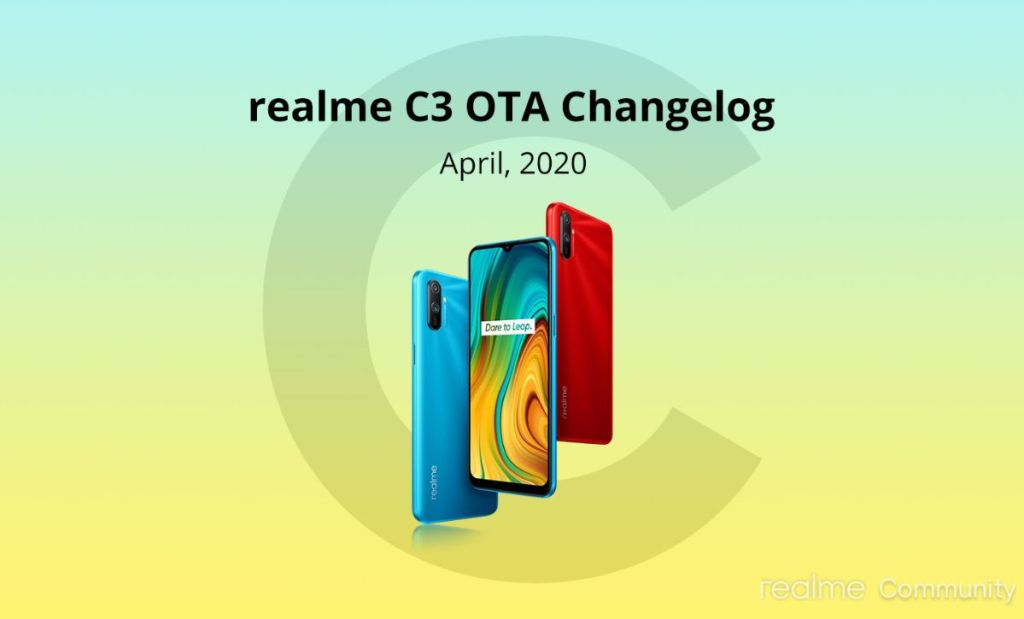 April Update For Realme C3