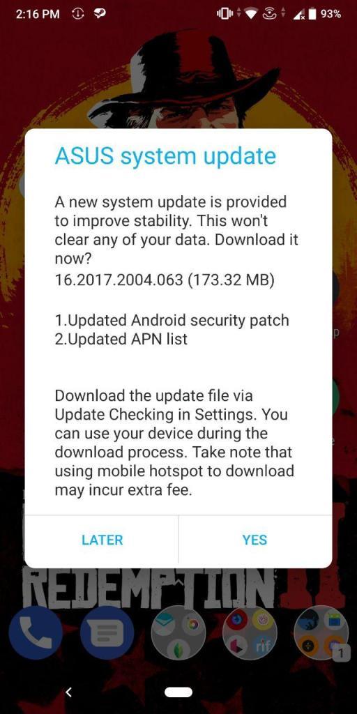 April Update For Zenfone Max Pro M1