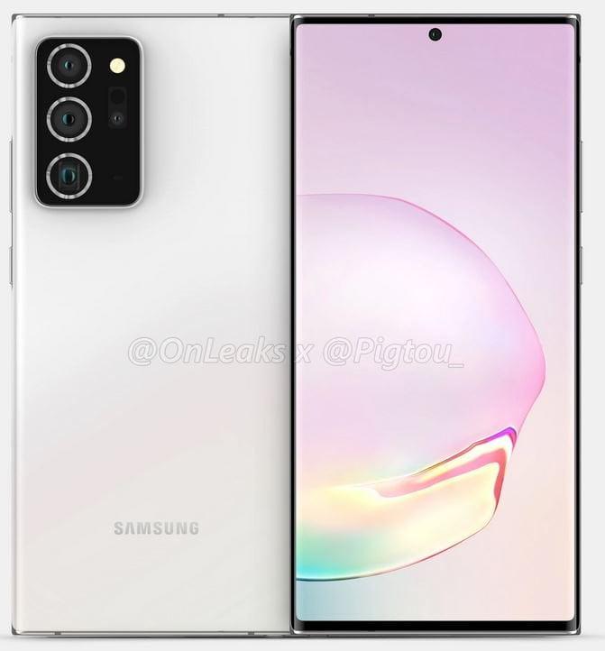 Samsung Galaxy Note 20 Plus leaked renders _b