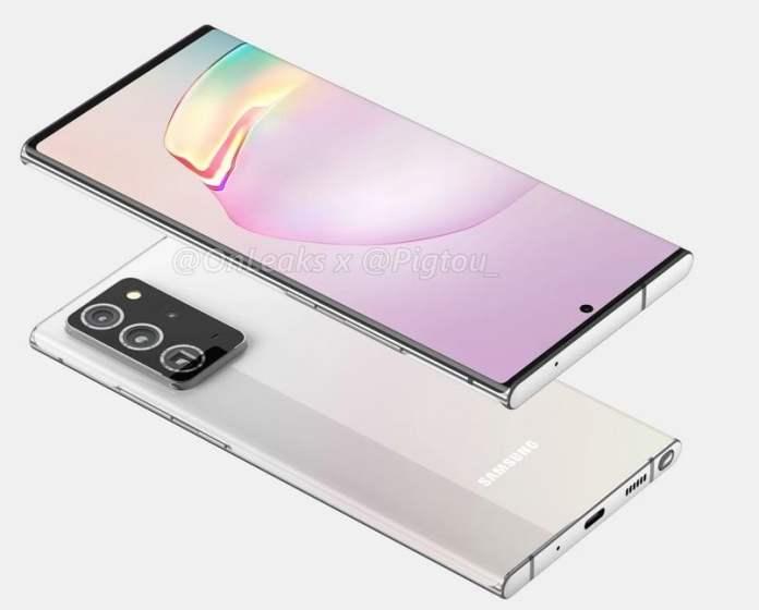 Samsung Galaxy Note 20 Plus leaked renders