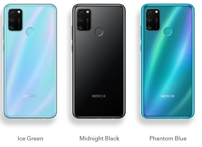 Honor 9A colours