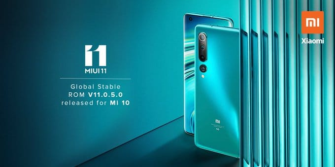 MIUI 11.0.5.0QJBINXM Update for Mi 10
