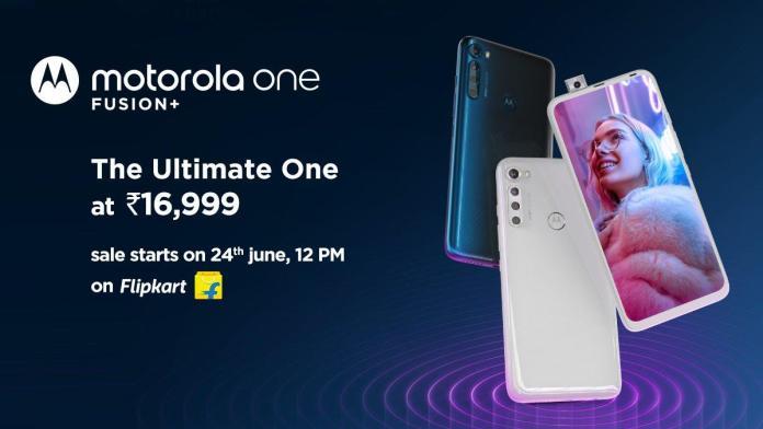 Motorola One Fusion+ price in India