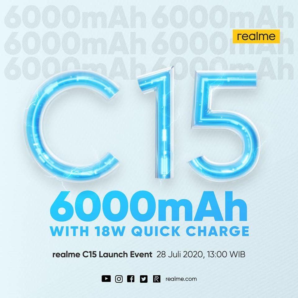 Realme C15 launch date