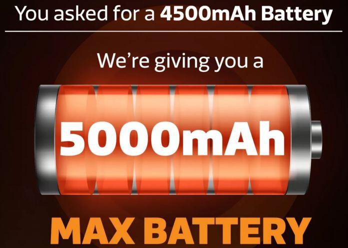 Gionee Max battery capacity