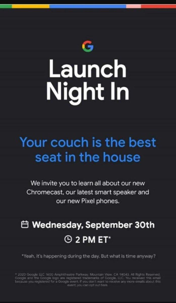 Google Pixel 5 launch date