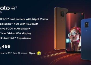 Moto E7 Plus price in India
