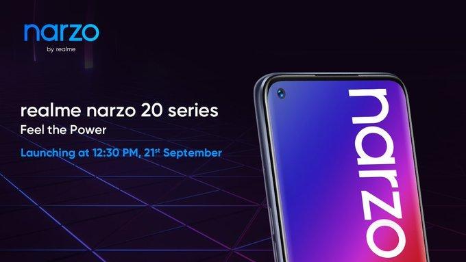 Realme Narzo 20 launch date