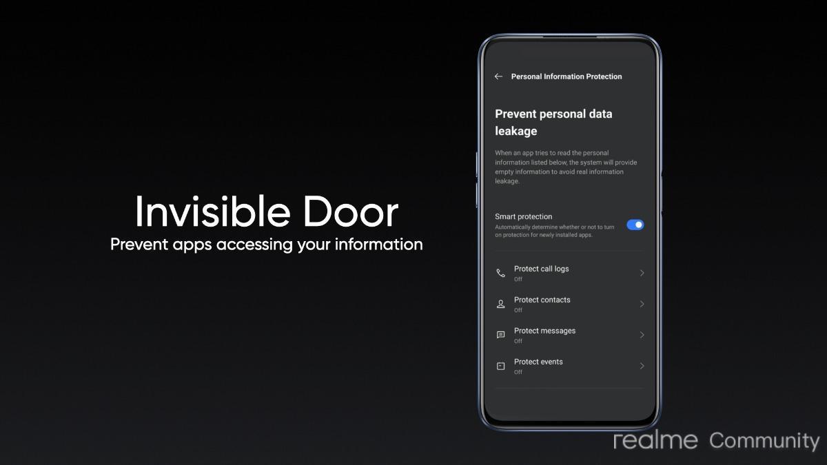 Realme UI 2.0 Update - Invisible Door